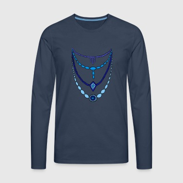 Chain blue by Syymbols - Men's Premium Longsleeve Shirt