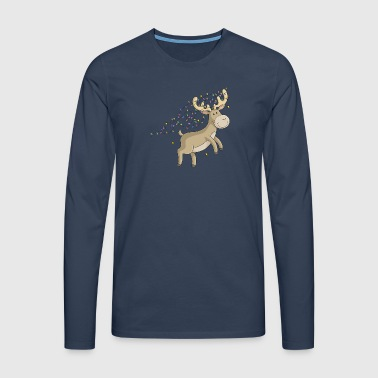 Cartoon christmas reindeer - Men's Premium Longsleeve Shirt
