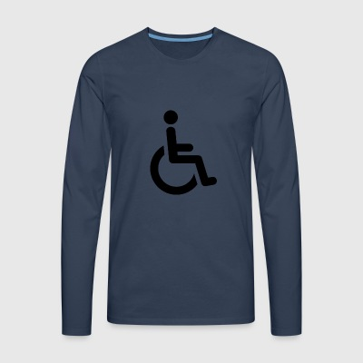 wheelchair - Men's Premium Longsleeve Shirt