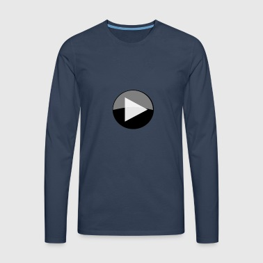 play circle icon - Men's Premium Longsleeve Shirt