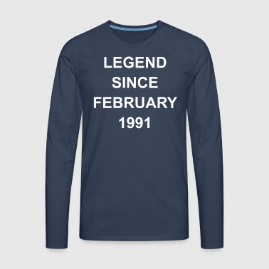 27 Birthday Year of Birth 1991 Month February - Men's Premium Longsleeve Shirt
