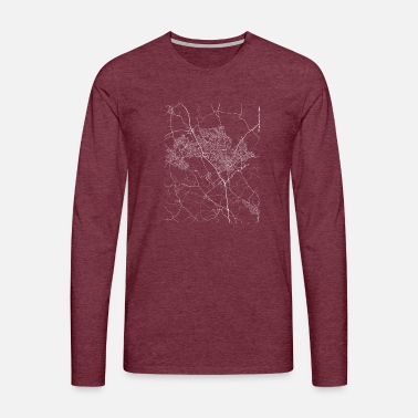 Uk Minimal Luton city map and streets - Men's Premium Longsleeve Shirt
