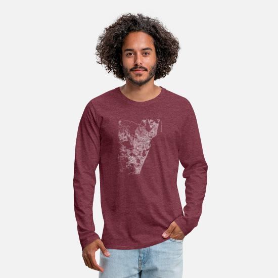 Area Long sleeve shirts - Minimal Recife city map and streets - Men's Premium Longsleeve Shirt heather burgundy