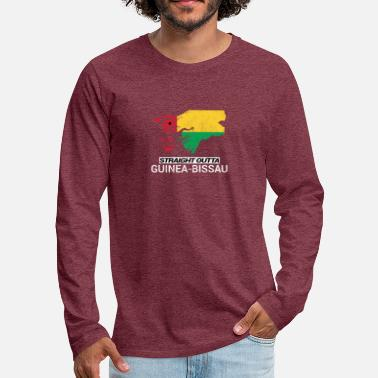 Soccer Straight Outta Guinea-Bissau country map - Men's Premium Longsleeve Shirt
