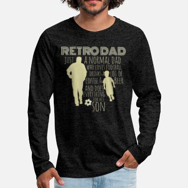 Dad Loves Coffee Retro dad - Men's Premium Longsleeve Shirt