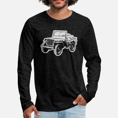 Suv Willy Jeep - Men's Premium Longsleeve Shirt