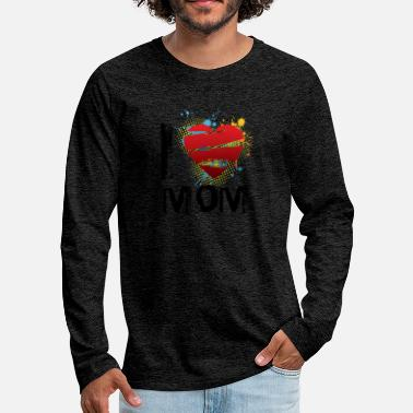 I Love I love mom uk - Men's Premium Longsleeve Shirt