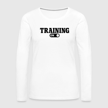 Training on - Frauen Premium Langarmshirt