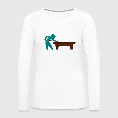 A pool player is on the pool table - Women's Premium Longsleeve Shirt