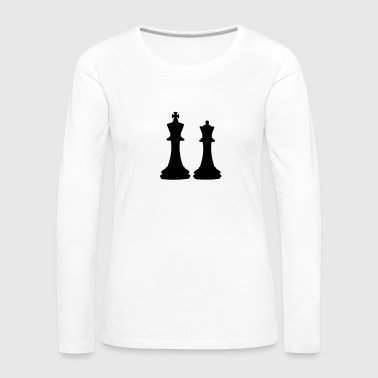 Chess King & Queen - T-shirt manches longues Premium Femme