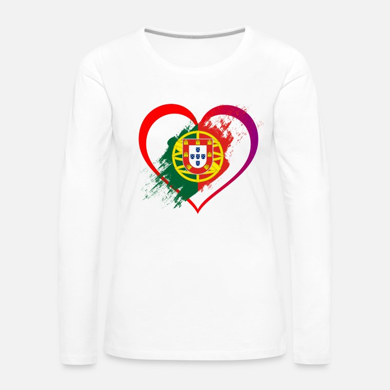 Portuguese Long Sleeve Shirts - I LOVE PORTUGAL COLLECTION - Women's Premium Longsleeve Shirt white