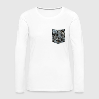 Shirt pocket breast pocket stones pattern - Women's Premium Longsleeve Shirt