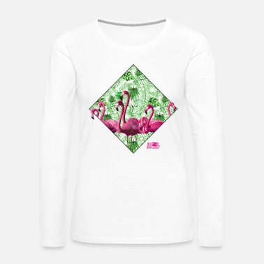 Animal Planet Flamingos Tropische Vögel - Frauen Premium Langarmshirt