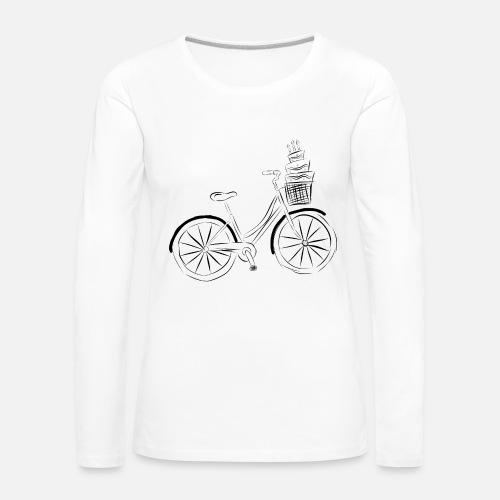 2e5c2599d883 Fahrrad mit Torte,Holländer Rad, Torte, Geburtstag Frauen Premium  Langarmshirt   Spreadshirt