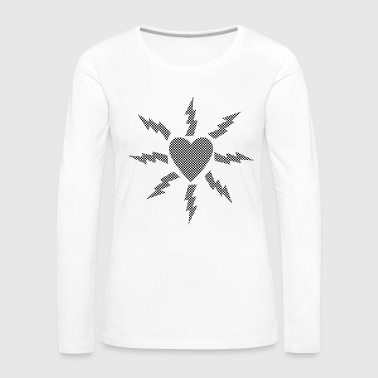 Heart with flashing checkerboard pattern - Women's Premium Longsleeve Shirt