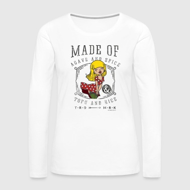 Vegan Pin Up Girl Women Made of Agave and Spice - Women's Premium Longsleeve Shirt