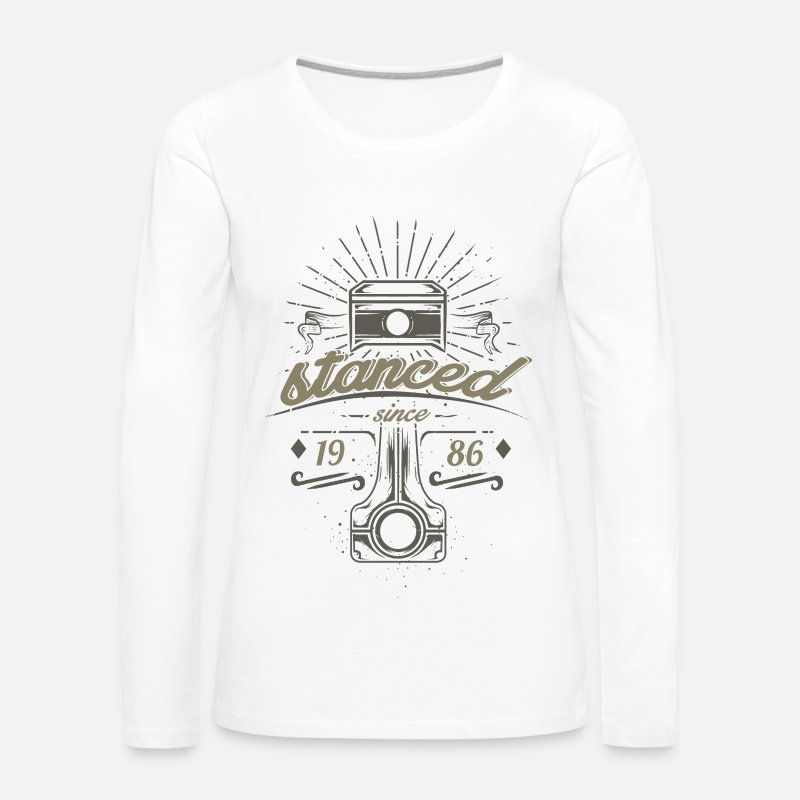 Car Long Sleeve Shirts - stanced pistons for tuning screwdrivers Automotive - Women's Premium Longsleeve Shirt white