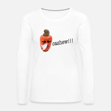 Sneeze Cashew nut sneezes in the handkerchief - Women's Premium Longsleeve Shirt