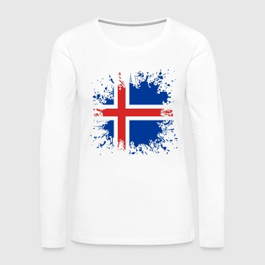 Paint Splatter Iceland flag color splashes - Women's Premium Longsleeve Shirt