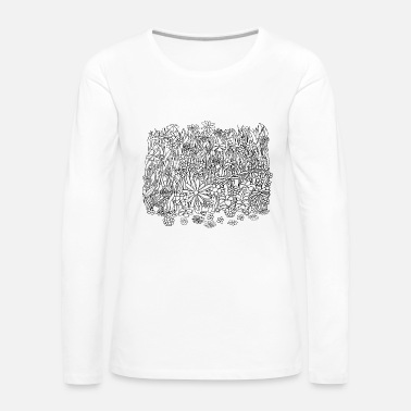 Meadow Flower meadow: meadow full of flowers - Women's Premium Longsleeve Shirt