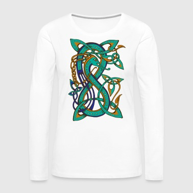 Celtic Dragon - Frauen Premium Langarmshirt