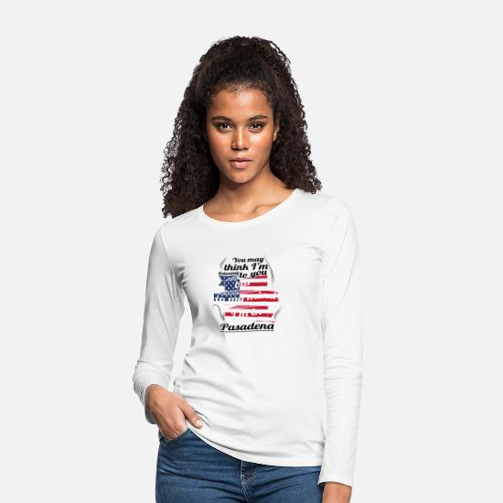 Travel Long sleeve shirts - THERAPY HOLIDAY AMERICA USA TRAVEL Pasadena - Women's Premium Longsleeve Shirt white