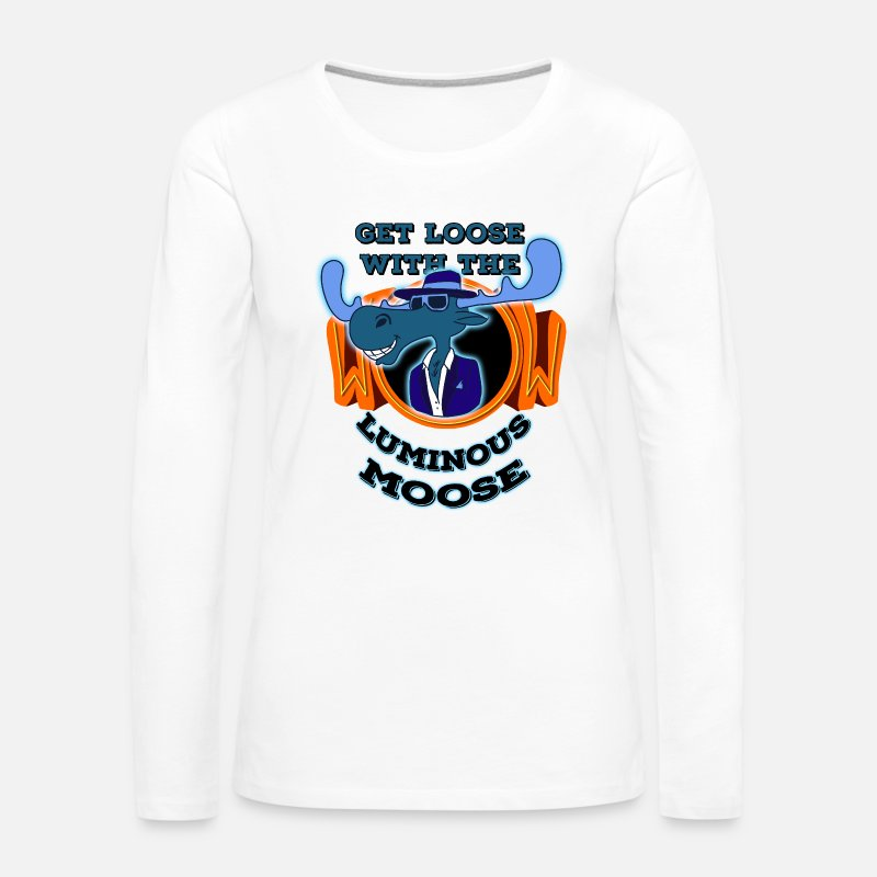 Beck Long Sleeve Shirts - Get loose with the luminous moose! - Women's Premium Longsleeve Shirt white