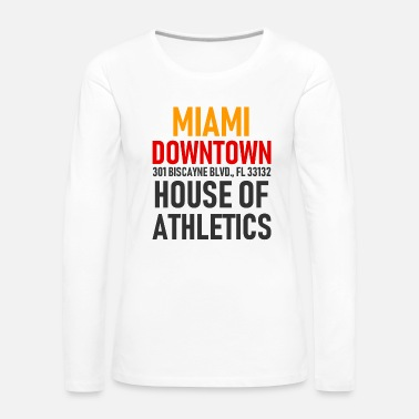 Ville Centre-ville de Miami - House of Athletics - Floride - T-shirt manches longues Premium Femme
