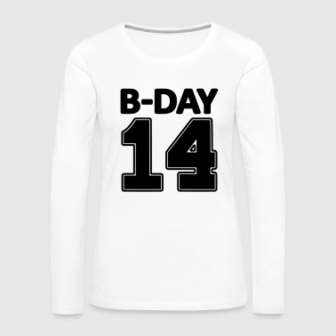 Jersey Number 14 number fourteen / birthday number number jersey - Women's Premium Longsleeve Shirt