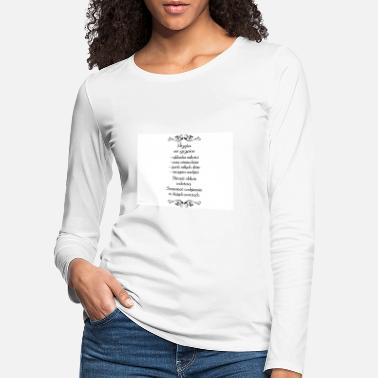 Recipe recipe quotes for luck - Women's Premium Longsleeve Shirt