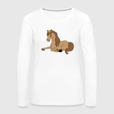 Cool Cute Funny Cool Horse Riding Rider - Women's Premium Longsleeve Shirt