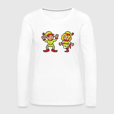 Elf Christmas theme Christmas elf Christmas elves - Women's Premium Longsleeve Shirt