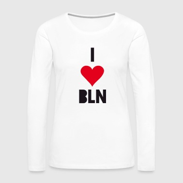 I Love Berlin Heart capital Holidays proud souveni - Women's Premium Longsleeve Shirt