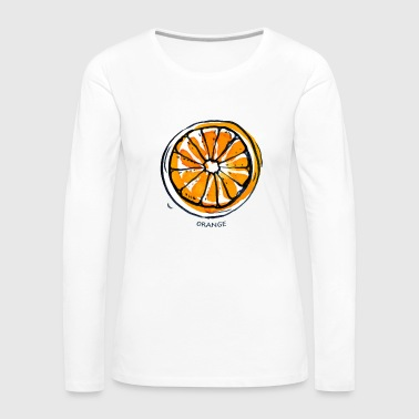 De Fruits Fruit de fruit orange Fruit - T-shirt manches longues Premium Femme