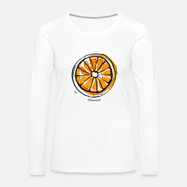 Fruit Fruit de fruit orange Fruit - T-shirt manches longues Premium Femme