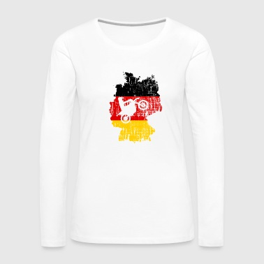Motorbike Germany German Flag - Women's Premium Longsleeve Shirt