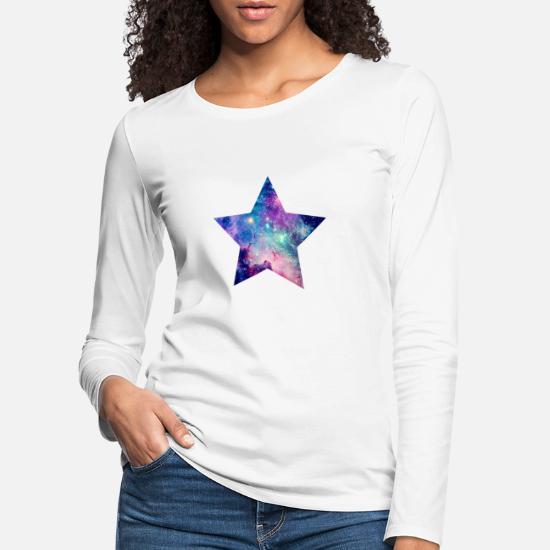00e24b38 Starry Sky Long sleeve shirts - Star Sky Clouds Night Moon Sparkle Chilling  idea - Women's