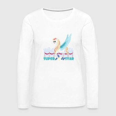 Unicorn Superstar / Unicornio - Camiseta de manga larga premium mujer