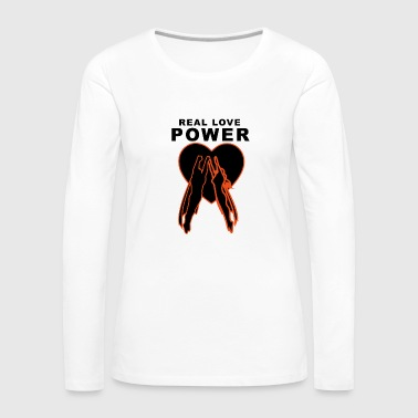 Real Love Power Heart - Maglietta Premium a manica lunga da donna