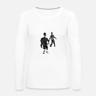 Black Lives Matter zombies white black - Women's Premium Longsleeve Shirt
