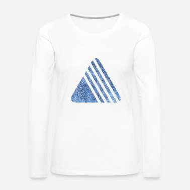 Cercle TRIANGLES TRIANGLE BLEU 15 - T-shirt manches longues Premium Femme