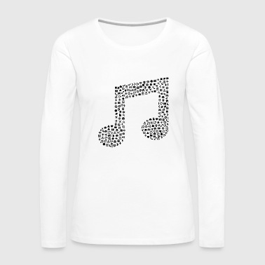 Music Note Music notes icon sign gift - Women's Premium Longsleeve Shirt