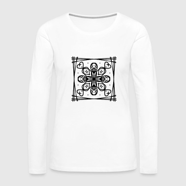 Flowers pattern hearts frame Abstract snowflake - Women's Premium Longsleeve Shirt