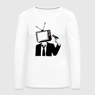 TELEVISION IS POOP - Women's Premium Longsleeve Shirt