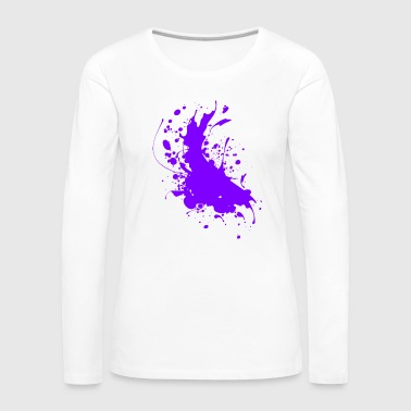 Paint Splatter Splatter paint splashes Abstract - Women's Premium Longsleeve Shirt