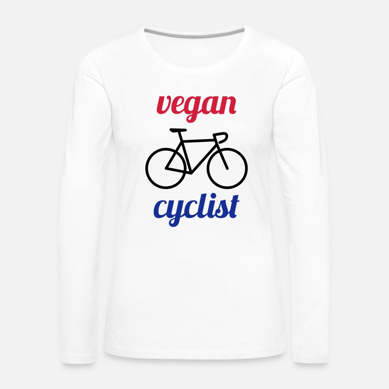 Love Long Sleeve Shirts - vegan cyclist - Women's Premium Longsleeve Shirt white