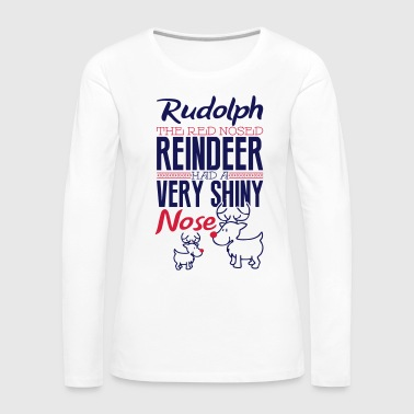 Rudolph the red nosed reindeer - Camiseta de manga larga premium mujer