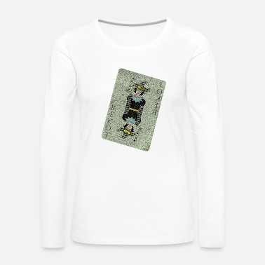 Playing Card Joker card playing card - Women's Premium Longsleeve Shirt