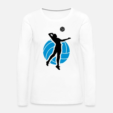 Volley Volleyball Design - Dame premium T-shirt med lange ærmer