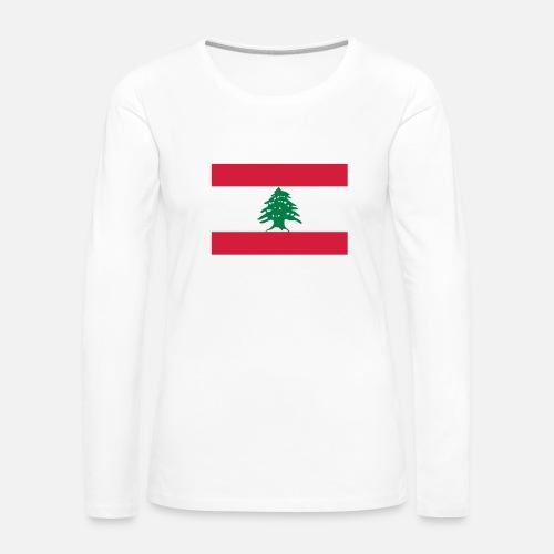 87a74dfb1b95 Lebanon - Liban T-shirt manches longues premium Femme   Spreadshirt